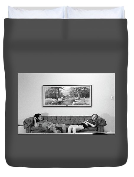 Sofa-sized Picture, With Light Switch, 1973 Duvet Cover