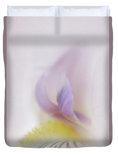 Duvet Cover featuring the photograph Soft And Delicate Iris by David and Carol Kelly