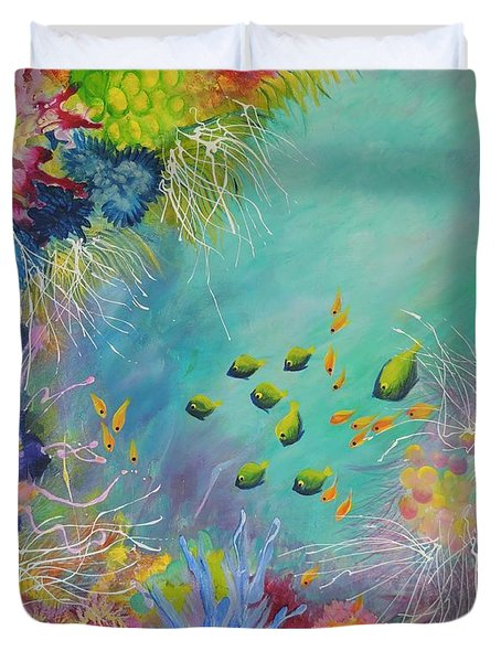 Soft And Hard Reef Corals Duvet Cover