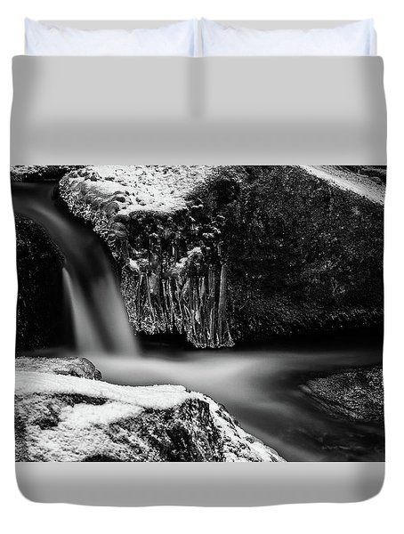 soft and sharp at the Bode, Harz Duvet Cover by Andreas Levi