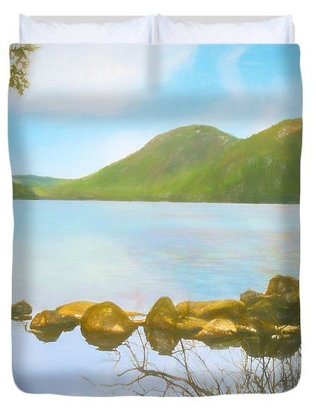 Soft Art Photograph Jordan Pond Acadia Nat. Park Maine Duvet Cover