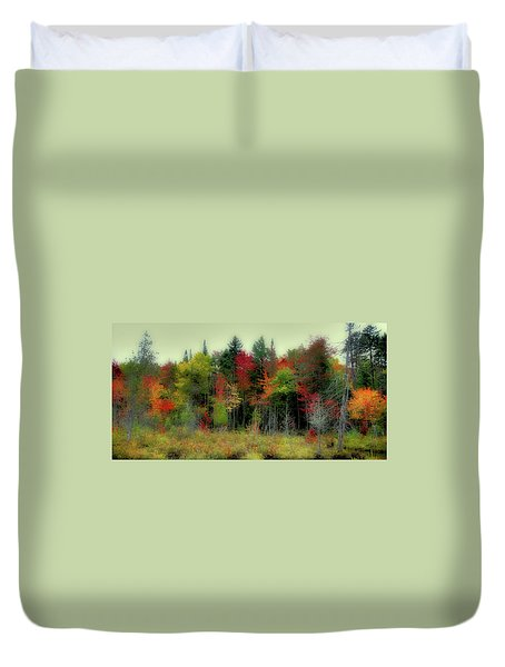 Duvet Cover featuring the photograph Soft Autumn Panorama by David Patterson