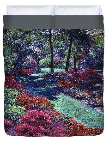 Soft Azaleas Duvet Cover
