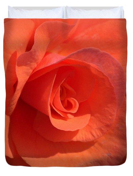 Soft Begonia Duvet Cover