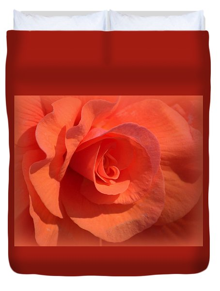 Soft Begonia Duvet Cover