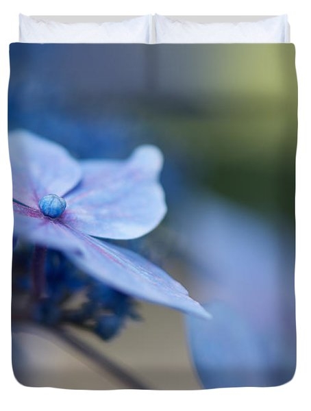Duvet Cover featuring the photograph Soft Blue Moment by Lisa Knechtel