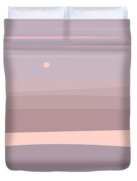 Soft Colored Landscape Duvet Cover