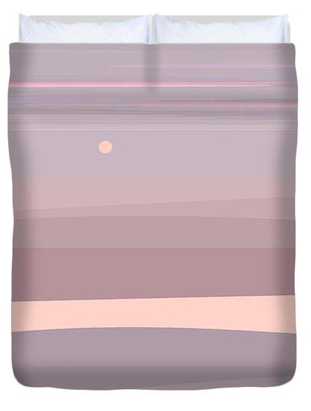 Soft Colored Landscape Duvet Cover