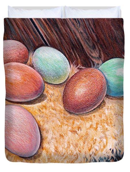 Soft Eggs Duvet Cover