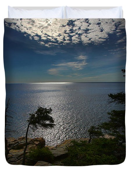 Soft Light On Otter Point Duvet Cover
