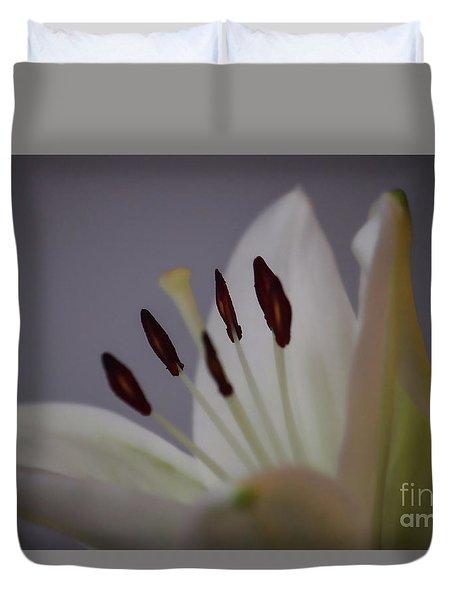 Soft Lily Duvet Cover by Roberta Byram