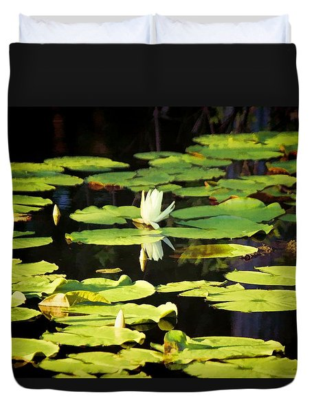 Duvet Cover featuring the photograph Soft Morning Light by Jan Amiss Photography
