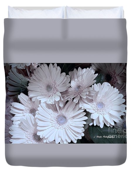 Soft Pink Daisy Bouquet Duvet Cover by Jeannie Rhode