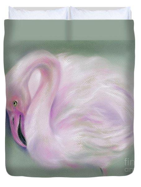 Soft Pink Flamingo Duvet Cover