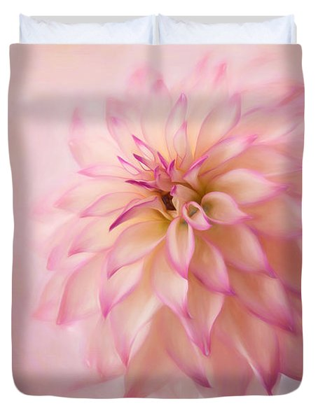 Soft Pink Glow Duvet Cover