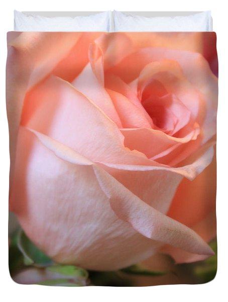 Soft Pink Rose Duvet Cover by Carol Groenen