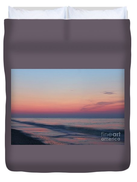 Soft Pink Sunrise Duvet Cover