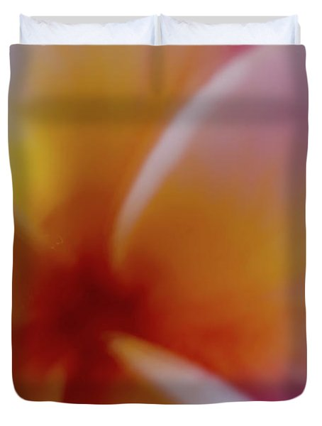 Duvet Cover featuring the photograph Soft Plumeria by Roger Mullenhour