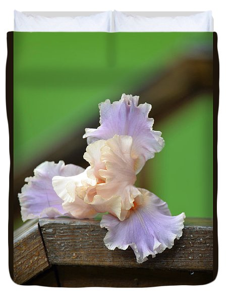 Soft Purple Iris Duvet Cover