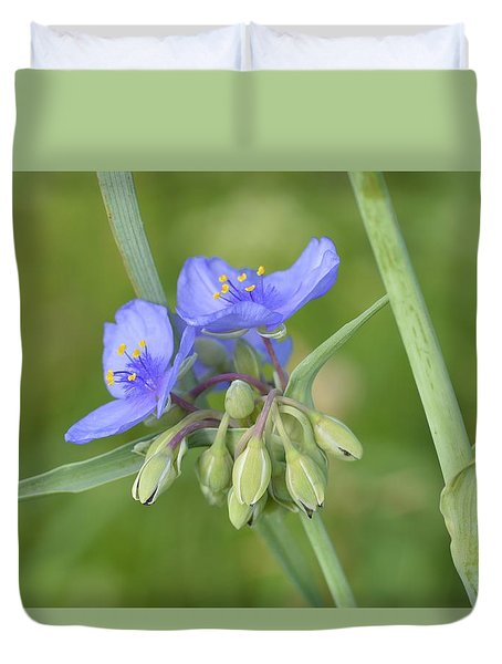 Soft Purple Spider Duvet Cover