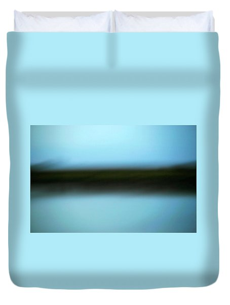 Duvet Cover featuring the photograph Soft Reflections by Marilyn Hunt