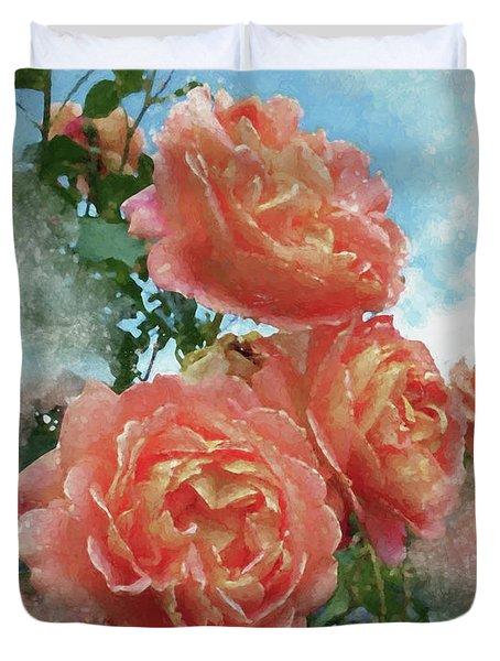 Soft Roses Duvet Cover