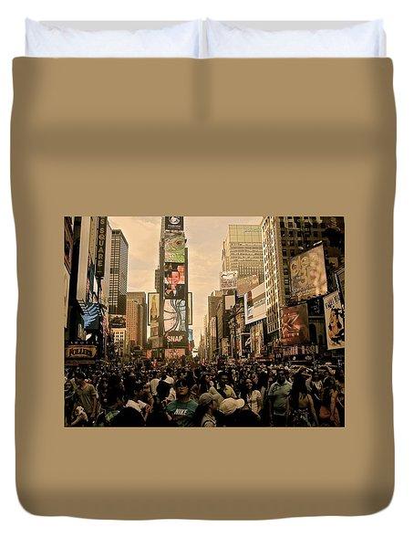 Soft Sunny Times Square Duvet Cover