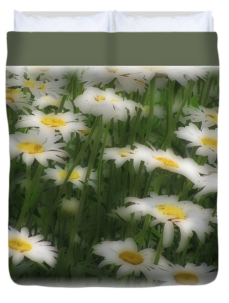 Duvet Cover featuring the photograph Soft Touch Daisy by Debra     Vatalaro