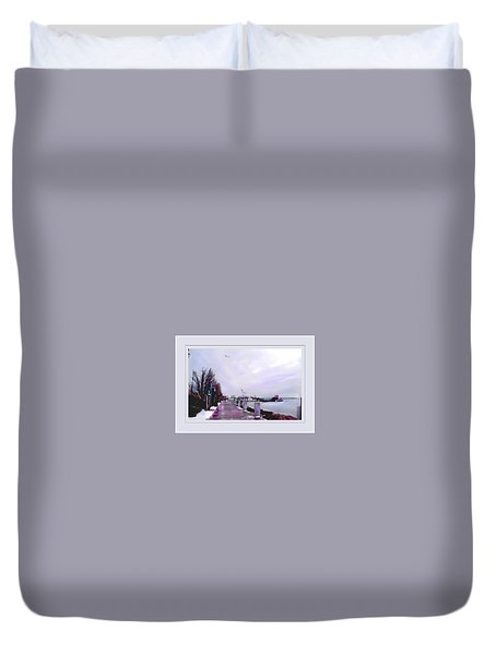 Duvet Cover featuring the photograph Soft Winter Day by Felipe Adan Lerma