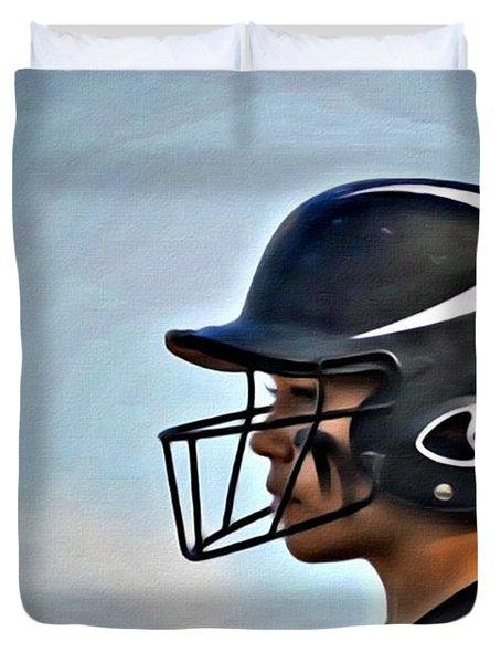 Softball Beauty Girl Duvet Cover