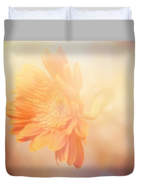 Duvet Cover featuring the photograph Softly Bloom by Toni Hopper