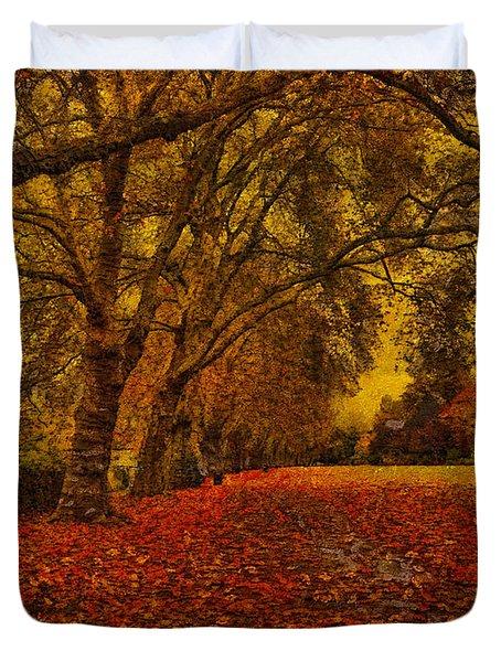Softly Falls The Evening  Light Duvet Cover
