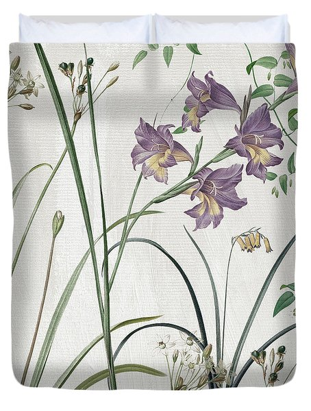 Softly Purple Crocus Duvet Cover