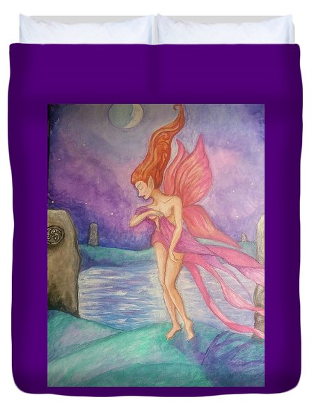 Softly,on The Wings Of Night Duvet Cover
