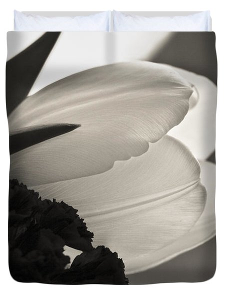 Lit Tulip Duvet Cover
