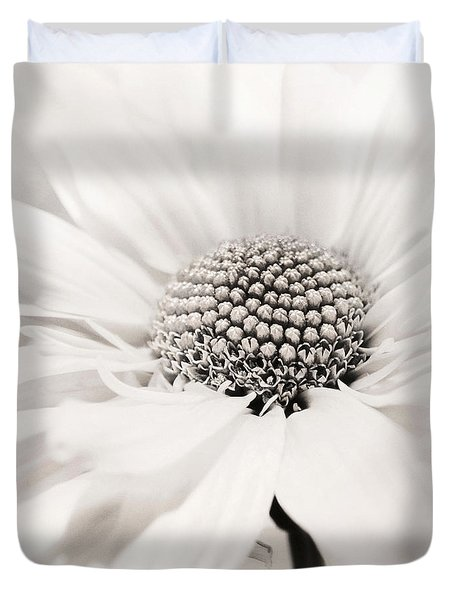 Duvet Cover featuring the photograph Soiree In Black N White by Darlene Kwiatkowski