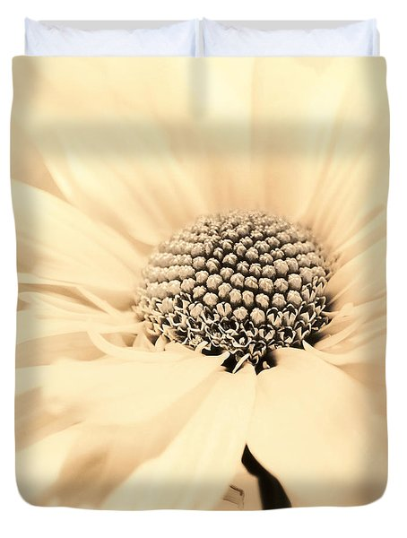 Duvet Cover featuring the photograph Soiree In Creamy Yellow by Darlene Kwiatkowski