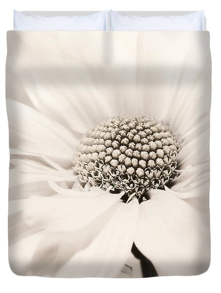 Duvet Cover featuring the photograph Soiree In Sepia by Darlene Kwiatkowski