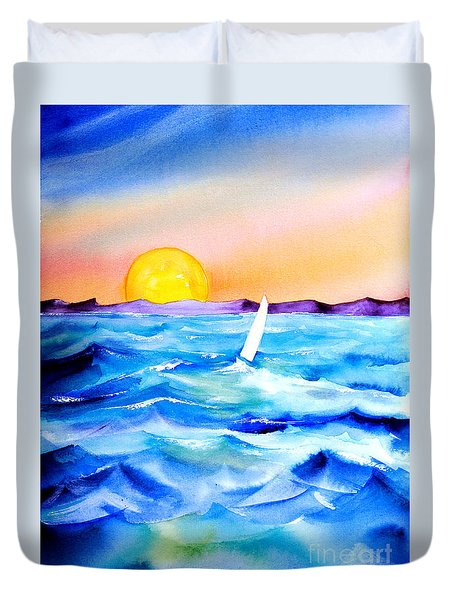 Sol Searching Duvet Cover