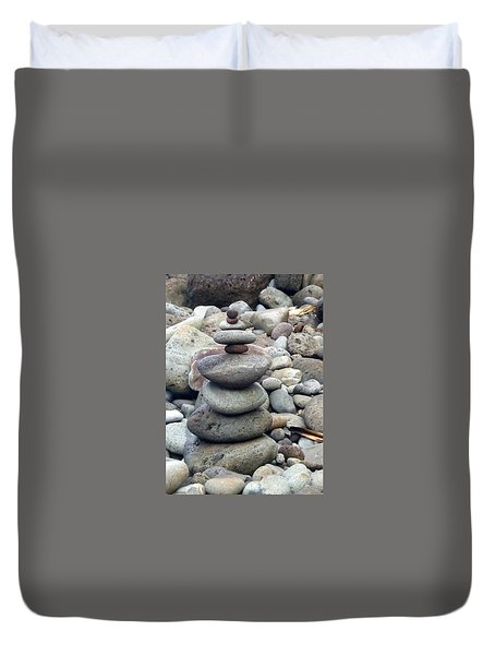 Duvet Cover featuring the painting Solace by Angela Annas