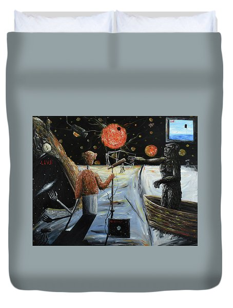 Solar Broadcast -transition- Duvet Cover by Ryan Demaree