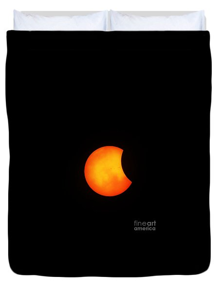 Solar Eclipse 2017 Duvet Cover
