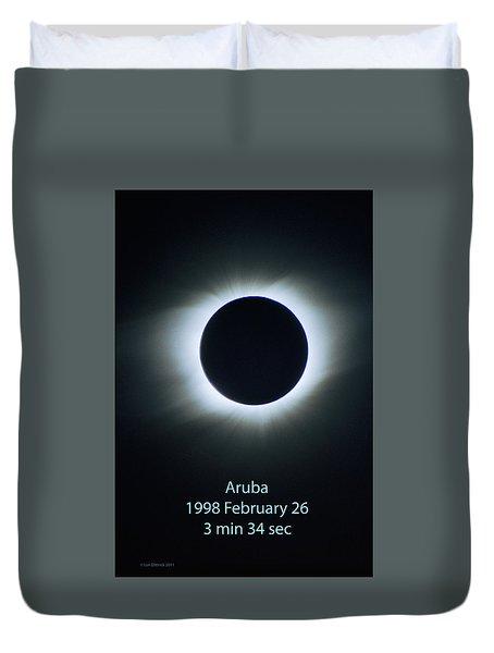 Solar Eclipse Aruba 1998 Duvet Cover