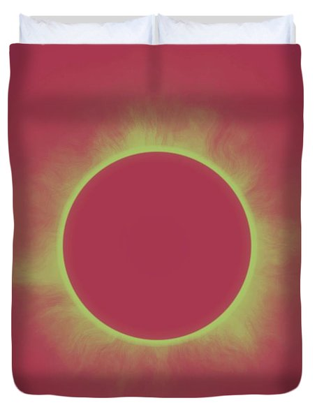 Solar Eclipse In Contrast Duvet Cover