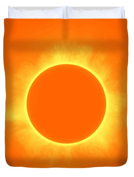Solar Eclipse In Daffodil Color Duvet Cover