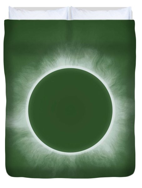Solar Eclipse In Forest Color Duvet Cover