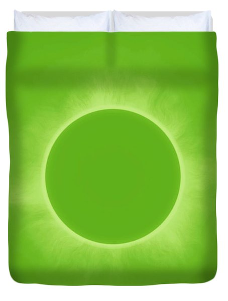 Solar Eclipse In Fresh Green Mint Colors Duvet Cover