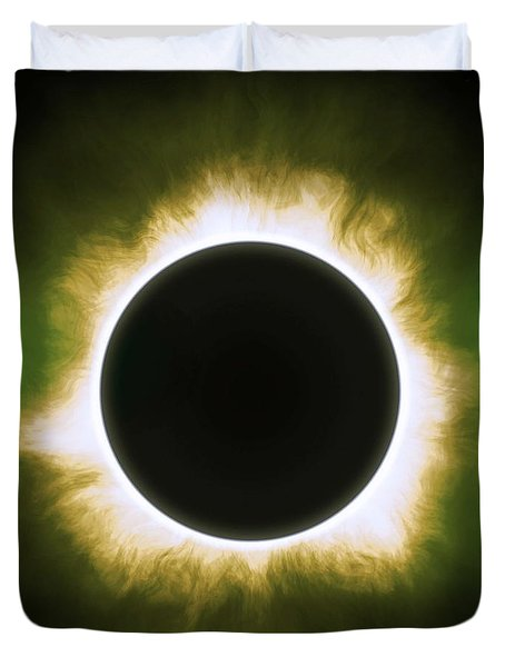 Solar Eclipse In Infrared Duvet Cover