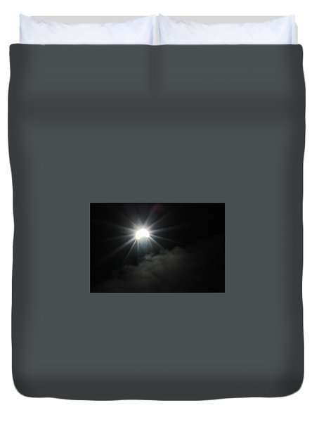 Solar Eclipse In The Clouds Duvet Cover