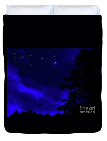 Solar Eclipse  Duvet Cover